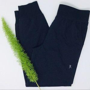 Danskin Cute Pinstriped Crop Jogger Pants Size (M)